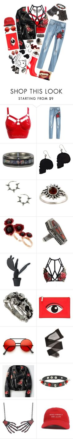 """""""Nö^163"""" by britwylde19 ❤ liked on Polyvore featuring Alex and Chloe, Amber Sun, Futuro Remoto, Hot Topic, Wandschappen, Manolo Blahnik, Kenzo and American Eagle Outfitters"""