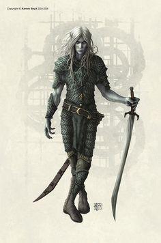 Dark Elf male by kerembeyit on DeviantArt
