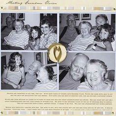 Grandparent Scrapbook Layout Ideas: Minimize Embellishments
