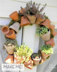 Make It: Terra Cotta Pot Wreath » Curbly | DIY Design Community