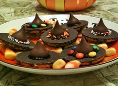 No Bake Halloween Treats -- Chocolate Witches Hats -- Juggling With Julia