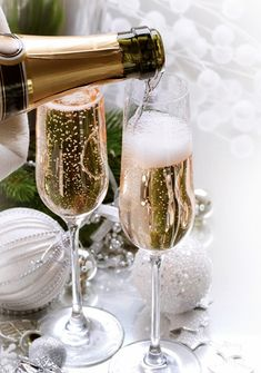 a champagne toast...