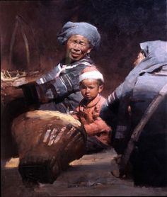 "Mian Situ (Chinese/American, born 1953)  ""In the Market"""