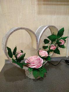 Artesanía De Mdf Personalizado En Blanco Rosas Corona De Flores