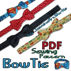 58 New Ideas Baby Onesies Diy Pattern Bow Ties Make A Bow Tie, Diy Bow, How To Make Bows, Sewing Hacks, Sewing Crafts, Sewing Projects, Sewing Ideas, Sewing For Kids, Baby Sewing