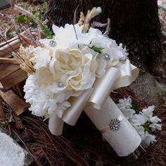 Ivory Lace Vintage Silk Real Touch Bride by BVDesignsonline, $80.00