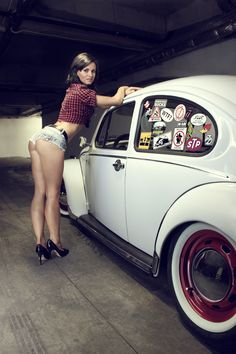 Sexy woman with car. More sexy women at http://sexy-calendars.net  |  http://car-calendars.net