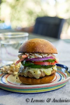 Chipotle Turkey Burgers with Southwestern Slaw. So good. The Slaw is nice and spicy!!
