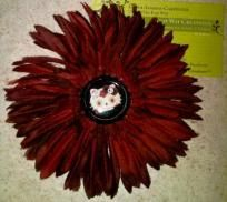 Day of the Dead Hello Kitty Burgundy Flower Clip
