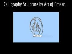 This sculpture was modeled in Google Sketch Up and was inspired by Islamic Calligraphy and Knot work.