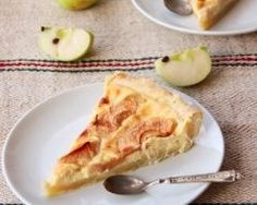Tarte-flan aux pommes Alsacienne