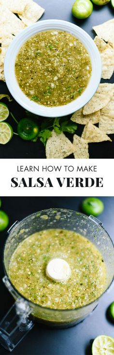 Pinner wrote: This homemade salsa verde recipe is so good, you'll never want the jarred kind again! Roasted Salsa Verde Recipe, Roasted Tomatillo, Salsa Recipe, Tomatillo Recipes, Mexican Food Recipes, Vegetarian Recipes, Cooking Recipes, Healthy Recipes, Ethnic Recipes