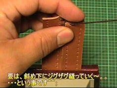 【革の縫い方っ!8】:『ベースボール・ステッチ-②』 レザークラフト動画<015>