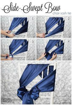 How to tie a Side-Swept Bow chair sash! | SmartyHadAParty.com