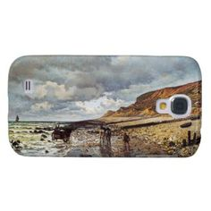 SOLD! - The Headland of the Heve at Low Tide Claude Monet Samsung Galaxy S4 Cover #monet #painting #case #samsung #galaxy #s4 #cover #Paris #France