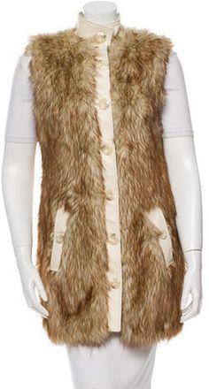 Rachel Zoe Faux Fur Leather Vest
