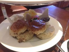 Afternoon tea at Starters in Middlesbrough, Teesside - cake, sandwiches, scones, tea!