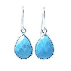 Turquoise & Sterling Silver Earrings www.jewelya.com