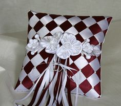Wedding Ring Bearer Pillow Ribbon Weave with by SisiCreations, $55.00