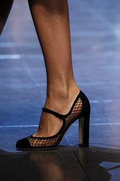 The catwalks were full of flats, but Vogue's editor Alexandra Shulman will always be a heels girl