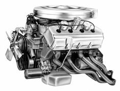 It's the design of the Hemi engine that made it special, as it became known for its massive horsepower, low-end grunt, and physical size. Hellcat Engine, Hemi Engine, Car Engine, Ford Racing Engines, Race Engines, Chrysler Hemi, Used Car Prices, Crate Motors, Performance Engines