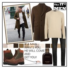 """""""IF A MAN WANTS YOU, HE WILL COME AND GET YOU!!!"""" by kskafida ❤ liked on Polyvore featuring Seed Design, Z Zegna, Yves Saint Laurent, Vitaly, River Island, Timberland, Dolce&Gabbana, men's fashion and menswear"""