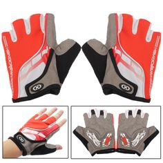 [$8.16] Motorcycle Bicycle Bike Half Finger Gloves Drive Fingerless Gloves Sports Wear Racing Equipment