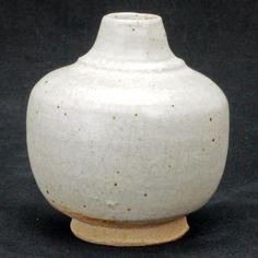 Small Thai ceramic jar with white glaze circa 1400