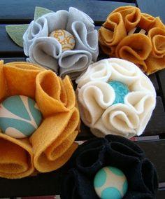 felt flower brooch tutorial craft idea - 101craftideas.com