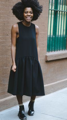 Freddie Harrel - EDIT Smock dress - NYC Street Style - Photo by Travis Chambers