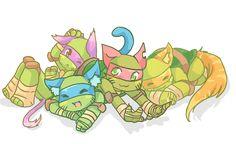 Kitty Turtles by Tenshilove.deviantart.com on @deviantART