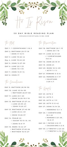He Is Risen: Easter Bible Reading Plan Easter Bible Verses, Easter Devotions, Bible Scriptures, Bible Notes, Bible Study Plans, Bible Plan, Bible Study For Kids, Bible Studies For Beginners, Scripture Reading