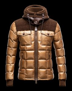 Cheap 2013 Mens Moncler Jackets Gold