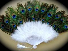 Burlesque Peacock feather fan