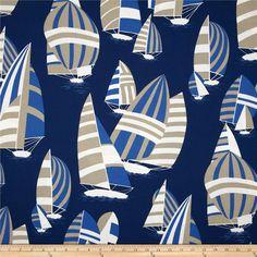 Robert Allen @ Home Regatta Club Sand Dune Fabric Boys Nautical Bedroom, Nautical Home, Outdoor Fabric, Indoor Outdoor, Sailboat Interior, Boat Decor, Pillow Fabric, Outdoor Settings, Home Decor Fabric