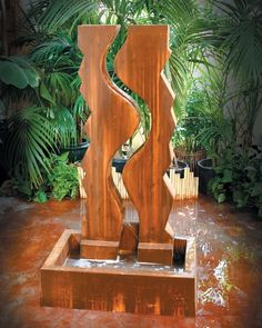 Free Shipping and No Sales tax on the Vertical Canyon Garden Water Fountain from the Outdoor Fountain Pros.