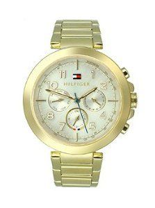 Women's Wrist Watches - Tommy Hilfiger Multifunction GoldTone Stainless Steel Womens watch 1781450 * Want to know more, click on the image.