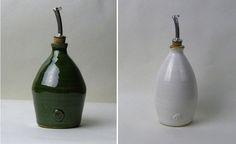 Green Olive Oil Dressing Bottle