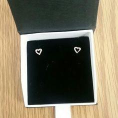 Heart earring 925 sterling silver. Jewelry Earrings
