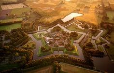 Bourtange, Netherlands: The star fort at Bourtange. Three centuries after the last cannonball was fired in anger at the fort, it now serves as a museum and centre of a sleepy farming village in eastern Holland. The low, thick walls were designed to offset the pounding force of cannonfire.