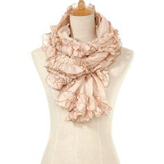 Ruffle Scarf Large Beige now featured on Fab.