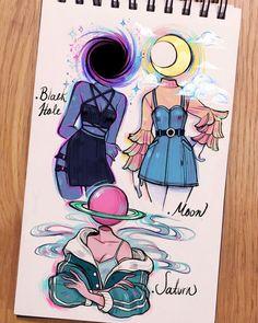 Cute Art Styles, Cartoon Art Styles, Cool Art Drawings, Art Drawings Sketches, Arte Sketchbook, Illustration, Marker Art, Art Reference Poses, Pretty Art