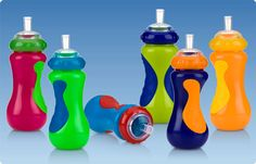 Cups and Spouts, Silicone Sport Straws, No-Spill™ Sports Sipper. No matter what recreational activity your child is engaged in, the No-Spill™ Sport Sipper by Nûby™ is perfect for parents and children on the go!