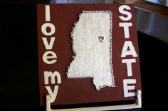 So Cute! I love my State with a heart where Starkville is located. The seller can put the heart anywhere on the state!