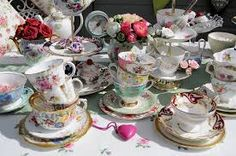 mismatched teacups and saucers - Google Search