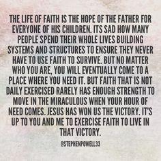 #faith #faithwalk #exerciseyourfaith #spiritexercise