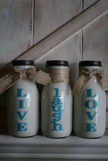 DIY Recycling Starbucks Frapp bottles!  How cute is this?!