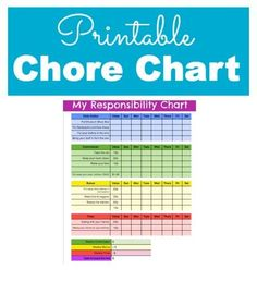 Fantastic Responsibility and Chore Chart for Kids.  This includes a free printable. Money, parenting, chores, #Stuffed Animals| http://stuffedanimals.lemoncoin.org