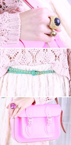 Pink, mint and lace