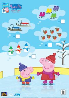 Peppa Pig Winter Counting Activity Page